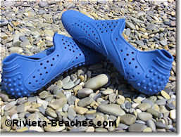Rubber beach shoes