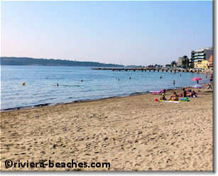 Le Moure Rouge public beach, Cannes