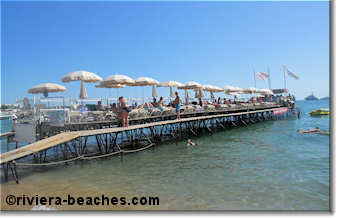 Croisette Beach pontoon